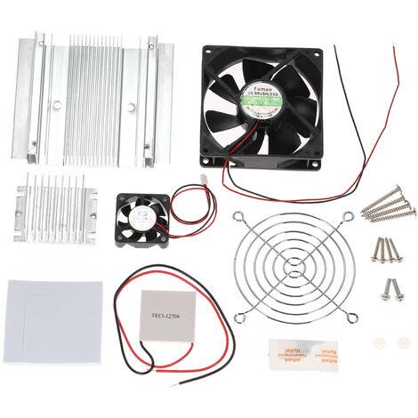 Diy Thermoelectriques A Effet Peltier Systeme De Refroidissement De Refrigeration Kit Semiconductor Cooler + Radiateur Module De Conduction + Ventilateur De Refroidissement + Tec1-12706