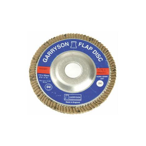 60 Grit 115mm Abracs Semi Flexible Discs Grit Packs of 5 Discs