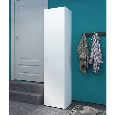 Dmora Cabinet with doors and internal shelves, white