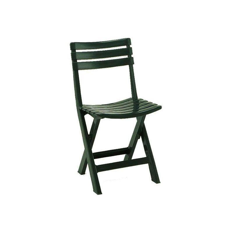 Dmora Chaise d'extérieur pliante, Made in Itay, 44 x 41 x 78 cm, Couleur Verte
