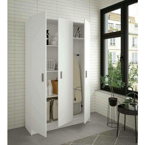 Dmora Gaia multipurpose cabinet, glossy white