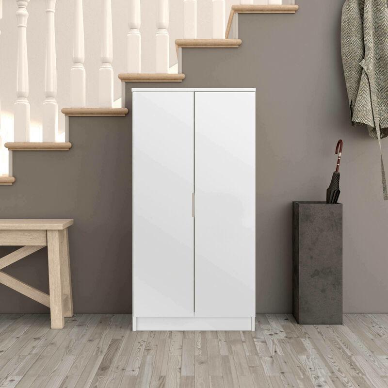 Lamar multifunktionaler Kleiderschrank in Weiß, 108 x 55 x 36 cm - Dmora