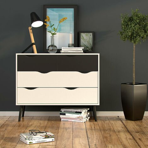Dmora Sideboard with doors and drawers