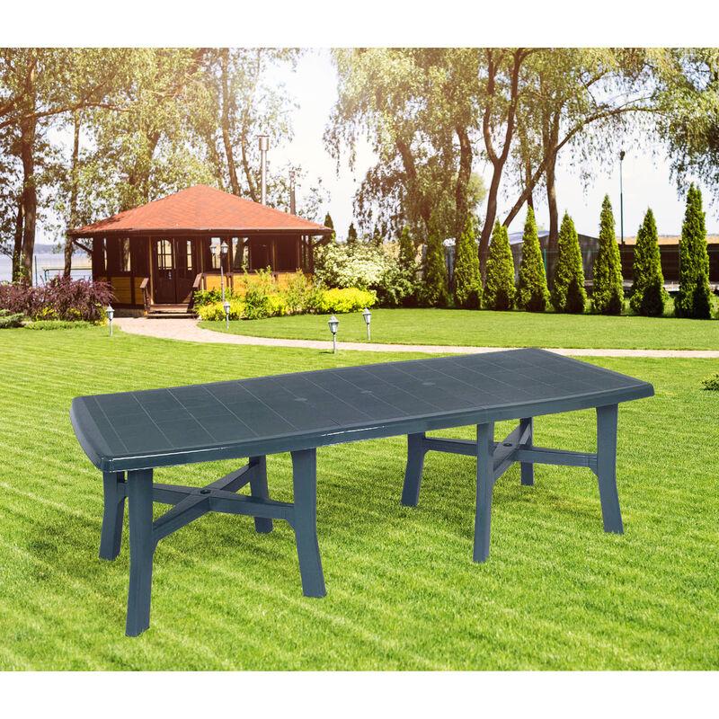 Table d'extérieur rectangulaire extensible, Made in Italy, 160x100x72 cm (fermée), Couleur Verte - Dmora
