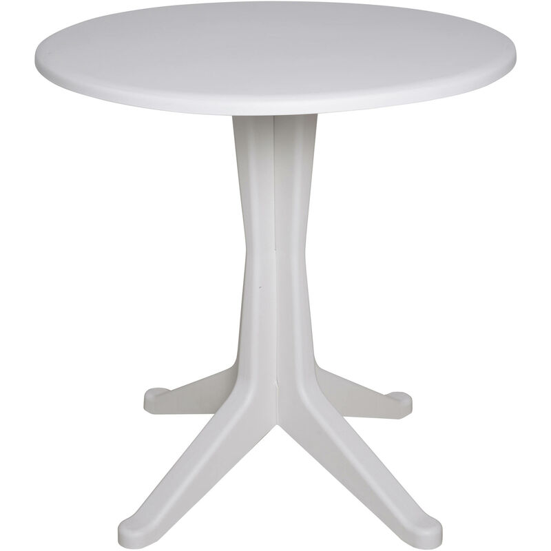 Table ronde, Made in Italy, 70x70x72 cm, Couleur Blanc - Dmora