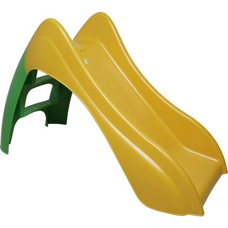 Dmora Toboggan pour enfants, Fabriqué en Italie, 120 x 56 x 75 cm, Couleur jaune et vert