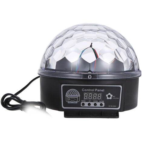 """main image of """"DMX512 LEDs Ball Stage Light with Remote Control 6 Channel Sound Activated Party Lights 6 Colors Stage Par Lighting for Disco DJ Club Dance Party,model: UK Plug"""""""