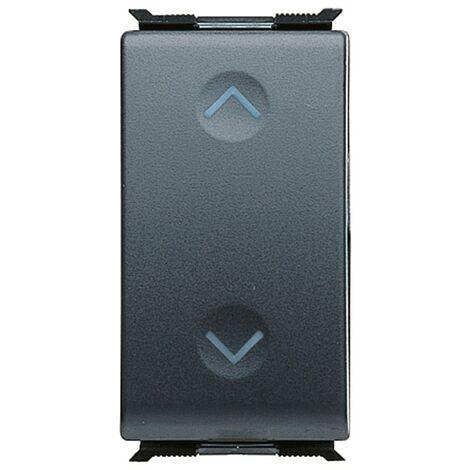 Doble botón, el Gewiss playbus placa de interruptor negro de enclavamiento 1P NA+NA -10 A GW30034