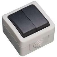 Doble conmutador estanco IP44 GSC 1200502