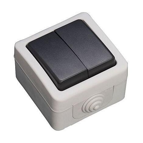 Doble conmutador estanco IP54 10A 250V (GSC 1200502)