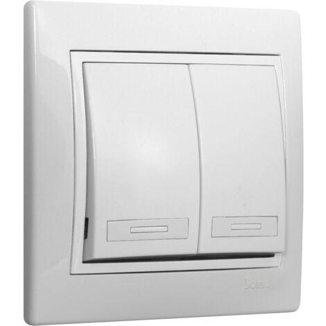 250 V Blanco SOLERA ERP12U Doble Conmutador