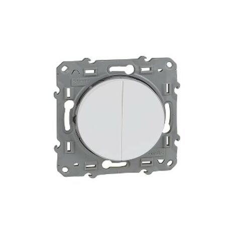 Doble conmutador Odace Blanco SCHNEIDER S520213