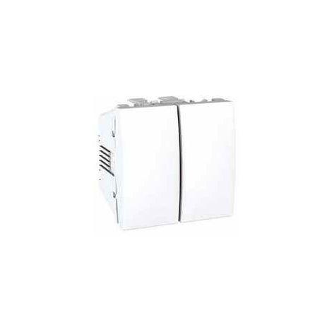 Doble interruptor 10A blanco Schneider Unica U3.211.18