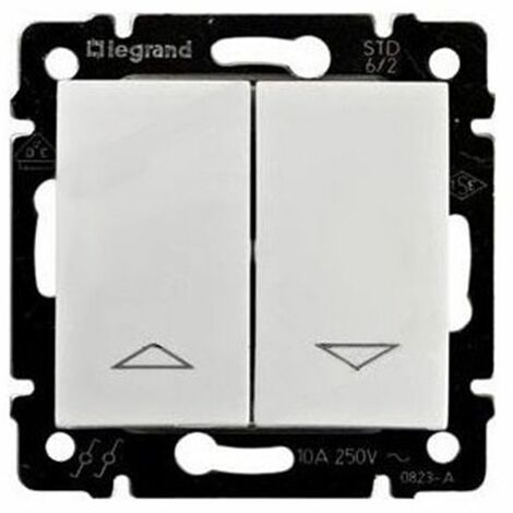 Doble Interruptor Blanco persianas Legrand Valena 774404