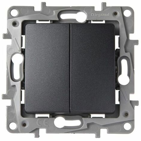 Doble Interruptor-Conmutador Antracita Niloe 665402