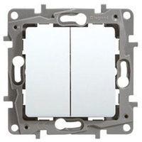Doble Interruptor - Conmutador Blanco Legrand NIloe 664702