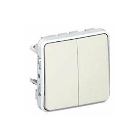 Doble Interruptor-conmutador Blanco Legrand Plexo 069625