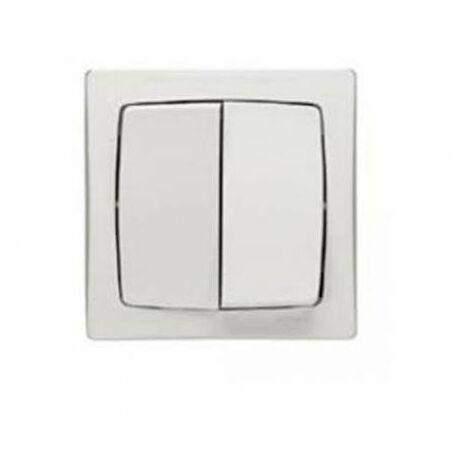 Doble interruptor-conmutador monoblock Legrand OTEO 086020