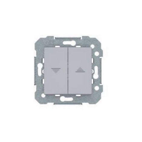 Doble interruptor de persiana plata BJC Viva 23569-PL