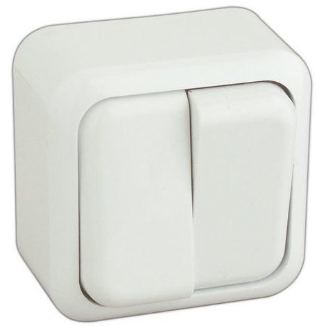 Doble interruptor de superficie color blanco 36.470/DI/B 8430552106943