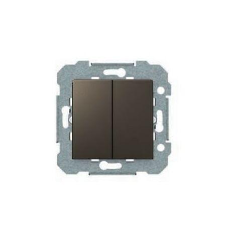 Doble interruptor gris lava serie VIVA BJC 23509-GL