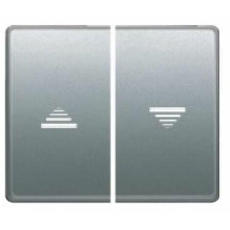 Doble tecla interruptor-pulsador persianas aluminio fusion BJC Mega 22765-AF