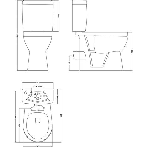 Doc M Comfort Height Close Coupled Toilet & Soft Close Seat