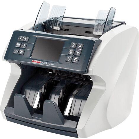 DoCash 3200 - Compteuse de billets multidevises professionnelle, totalisateur, compteur de billets mixte 6 méthodes de détection, écran LCD, évolutif, testé par la BCE.