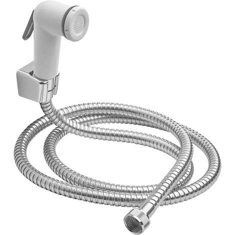 DOCCETTA BIANCA CON PULSANTE + tubo SHUT-OFF MAURER doccia bagno