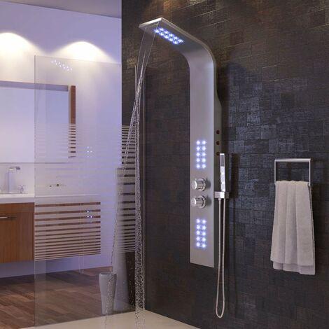 Doccia Schermo LED Illuminazione Doccia Colonna termostato Doccia Maniglia Asta Doccia Regolabile