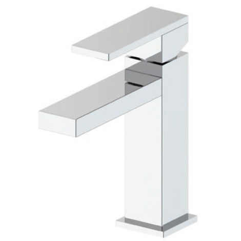 "main image of ""Docciaviva Square - Mitigeur monocommande lavabo avec bonde clic-clac (code 800.900.100)"""