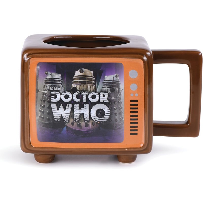 Image of Hide Behind The Sofa Heat Changing Mug (One Size) (Brown) - Doctor Who