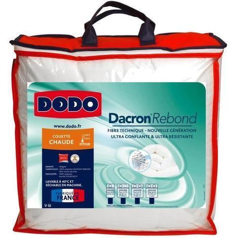 DODO Couette chaude 400gr/m² DACRON REBOND