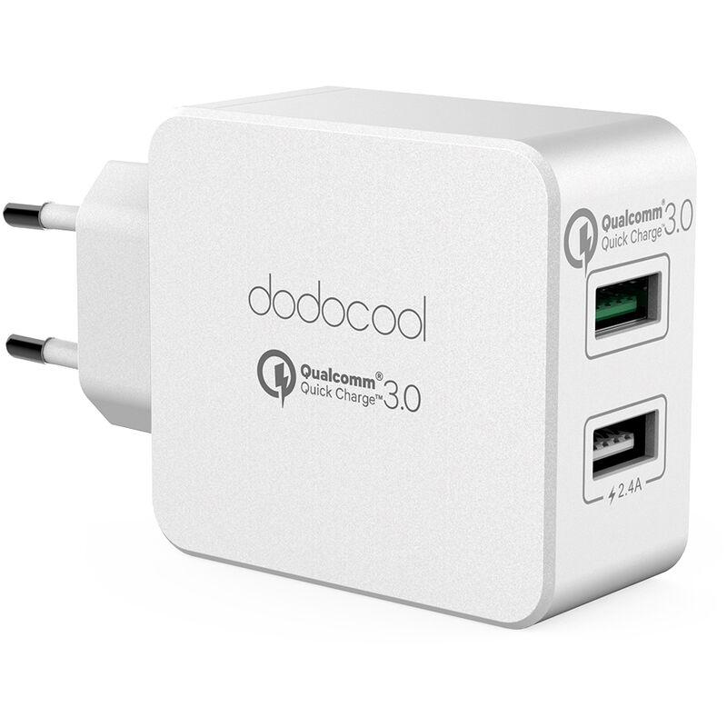 dodocool Chargeur mural double USB 30W avec adaptateur secteur Quick Charge 3.0 avec prise UE pour LG G5 / HTC One A9 / Xiaomi Mi 5 / LeTV Le MAX Pro