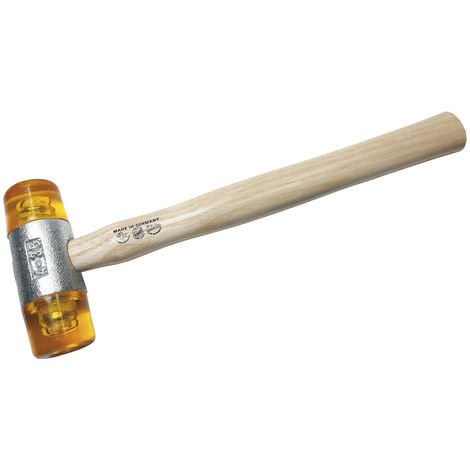 Dönges Kunststoffhammer mit lackiertem Eschenstiel, 32 mm, gelb