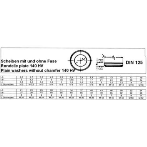 20 Stk Unterlegscheibe U-Scheibe M6 Rostfrei A2 DIN125 VA-Stahl