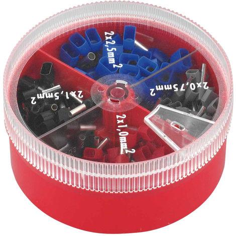 Streudose DIN isoliert Dönges Aderendhülsen-Sortiment 0,5-2,5 mm²