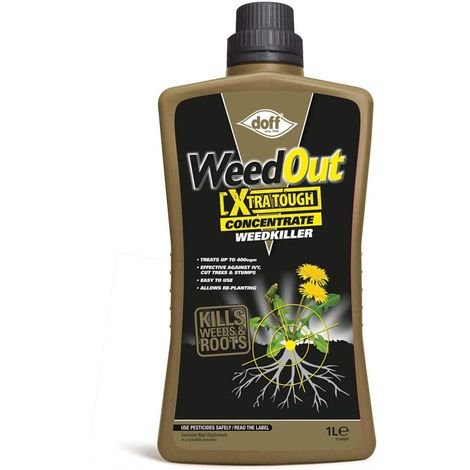 Doff 1 Litre Easy To Use Xtra Tough Concentrated Weedkiller glyphosate