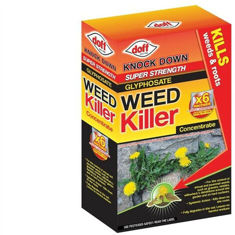 DOFF DOFFY006 Advanced Concentrated Weedkiller 6 Sachet