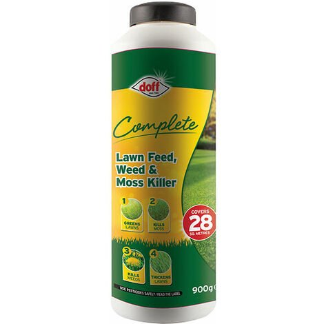 DOFF DOFLM028 Complete Lawn Feed, Weed & Moss Killer 900g