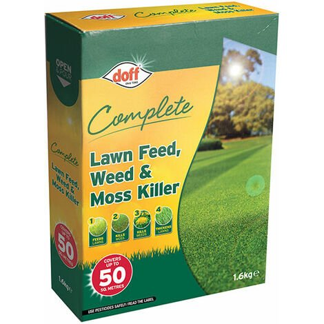 DOFF DOFLM050 Complete Lawn Feed, Weed & Moss Killer 1.6kg