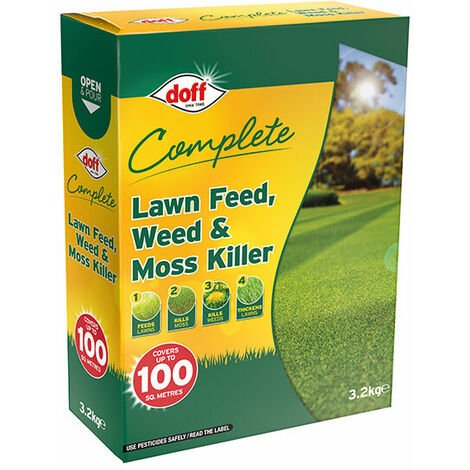 DOFF DOFLM100 Complete Lawn Feed, Weed & Moss Killer 3.2kg