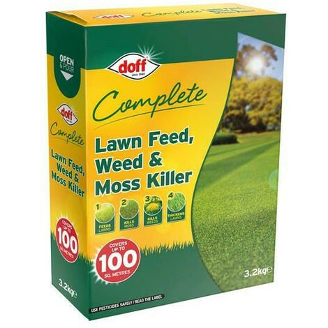DOFF DOFLM100 Complete Lawn Feed Weed & Moss Killer 3.2kg