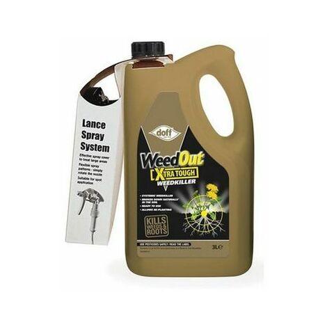 DOFF F-FQ-C00-DOF-02 WeedOut Xtra Tough Weedkiller RTU 3 litre