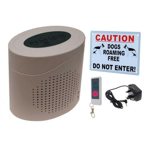 Dog Barking Alarm with External Warning Sign. [005-2730]