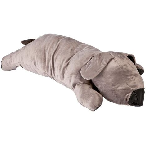 Dog bed in the shape of giant plush dog extra comfortable and comfortable padded gray color