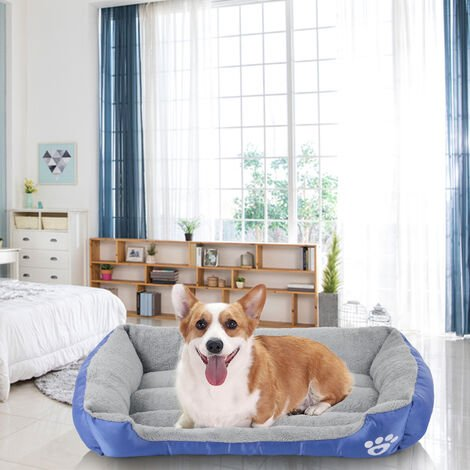 Dog Bed Soft Pet Sofa Cats Pad Non Slip Bottom Self Warming Breathable Bedding , M