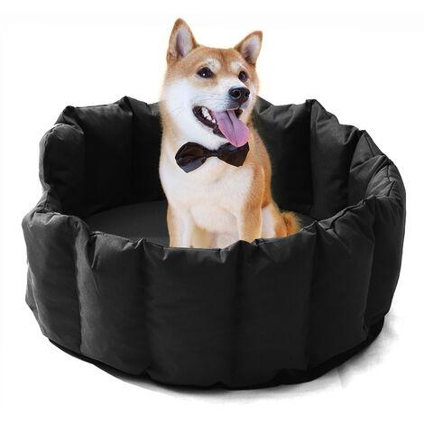 Dog Bed Waterproof Washable Pet Basket Mat Cushion Black 76x64 x24cm