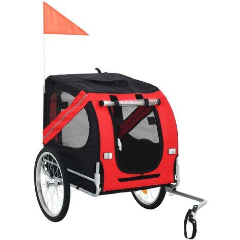 Dog Bike Trailer Red and Black - Black