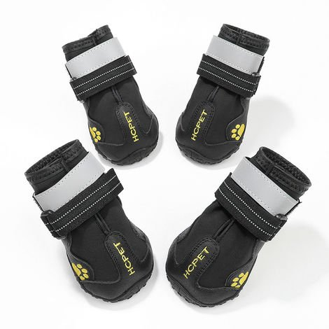 Dog Boots Waterproof Shoes for Dogs Sole 4PCS black-size 5